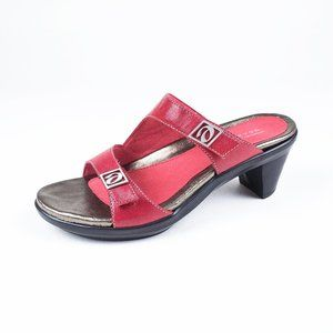 Aravon Angela Comfort Sandals Slides Leather 8D